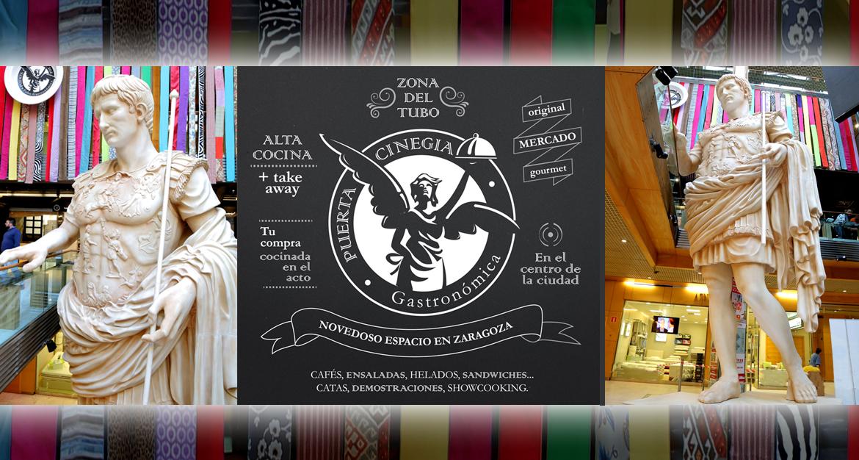 Diseño web purista y minimalista para el proyecto Puerta Cinegia Gastronómica